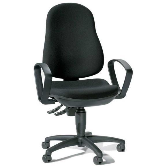 Bürodrehstuhl BASE ART 70 inkl. Armlehnen Schwarz | feste Armlehnen