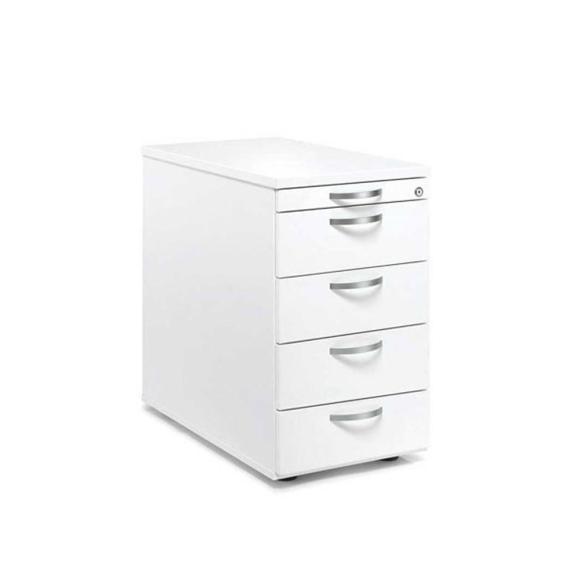 Standcontainer Multi M pro Weiß | 1 + 4 Schübe