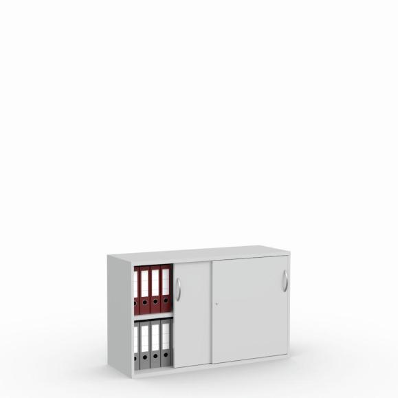 Schuifdeurkast MULTI M pro lichtgrijs | 1200 mm | 780 mm (2 OH)