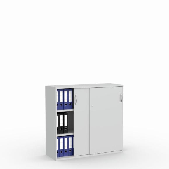 Schuifdeurkast MULTI M pro lichtgrijs | 1200 mm | 1140 mm (3 OH)