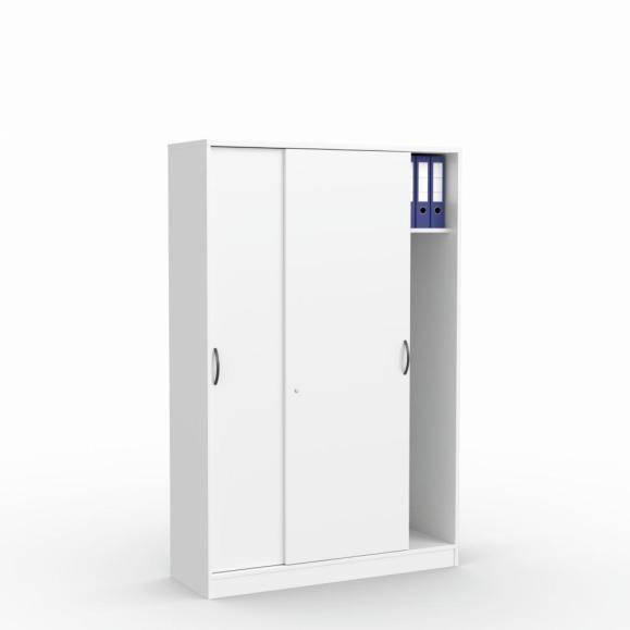 Schiebetürenschrank MULTI M Weiß | 1200 mm | mit Garderobe | 1835 mm (5 OH)
