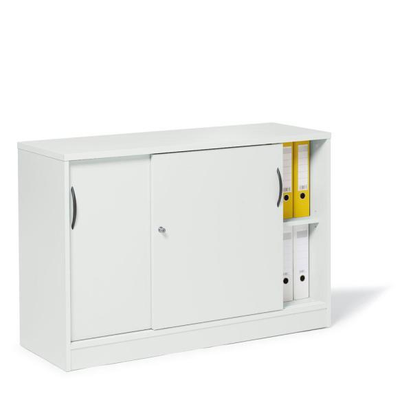 Schiebetürenschrank MULTI M Weiß   1200 mm   ohne Garderobe   805 mm (2 OH)