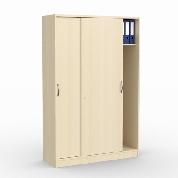 Schiebetürenschrank MULTI M Ahorndekor   1200 mm   mit Garderobe   1835 mm (5 OH)