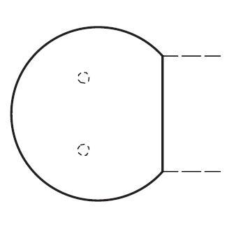 Anbauplatte MULTI M Weiß | Alusilber RAL 9006 | Anbauplatte rund
