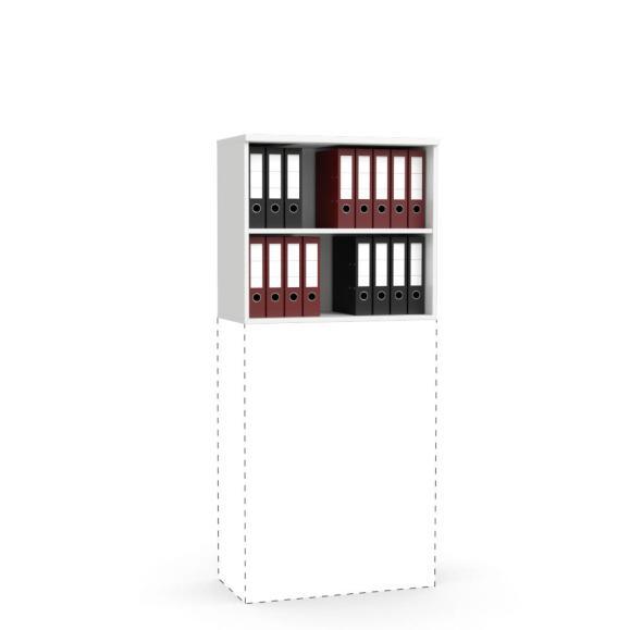 Aufsatz-Regal MULTI M Weiß | 800 mm | 710 mm (2 OH)