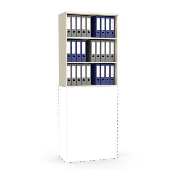 Aufsatz-Regal MULTI M Ahorndekor | 800 mm | 1055 mm (3 OH)
