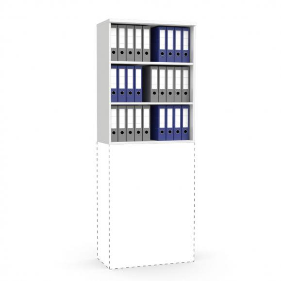 Aufsatz-Regal MULTI M Weiß | 800 mm | 1055 mm (3 OH)