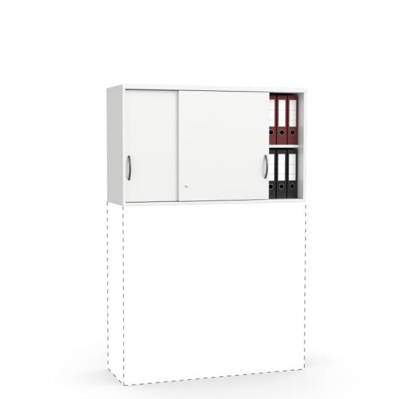 Schiebetüren-Aufsatzschrank MULTI M Weiß | 710 mm