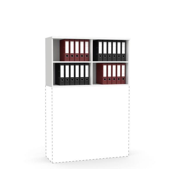 Aufsatz-Regal MULTI M Weiß | 1200 mm | 710 mm (2 OH)