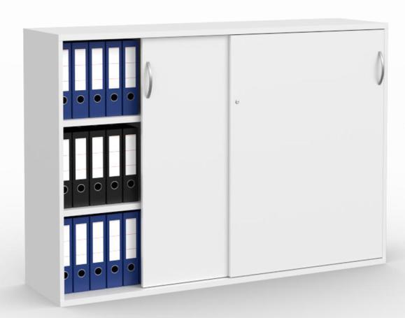Schiebetürenschrank MULTI M pro Weiß   1600 mm   1140 mm (3 OH)