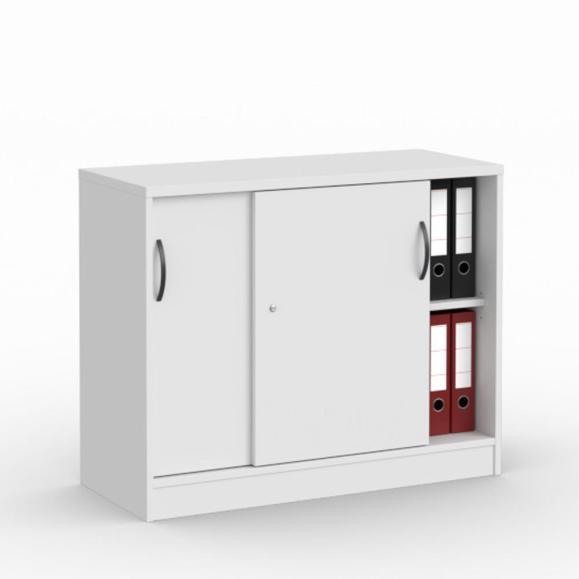 Schiebetürenschrank MULTI M Weiß | 1000 mm | ohne Garderobe | 805 mm (2 OH)