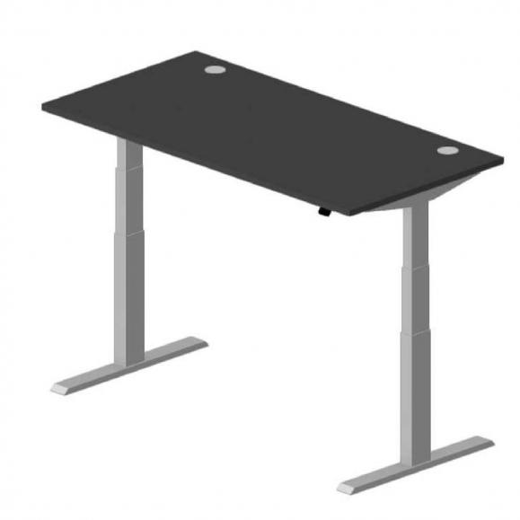 Sitz-/Stehtisch EVO Anthrazit | 1600 mm | Alusilber RAL 9006