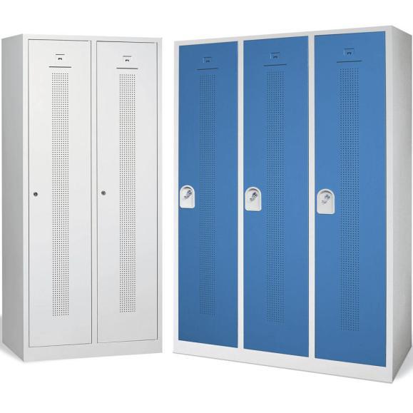 Garderobenschrank Abteilbreite 400 mm, mit Sockel