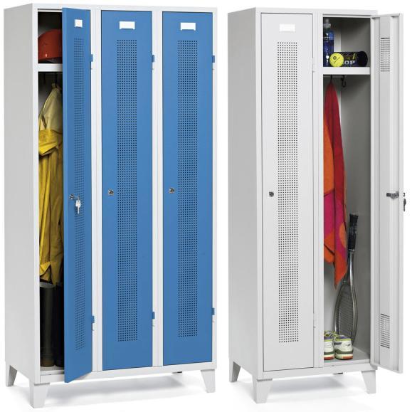 Garderoben-Stahlspinde mit Füßen
