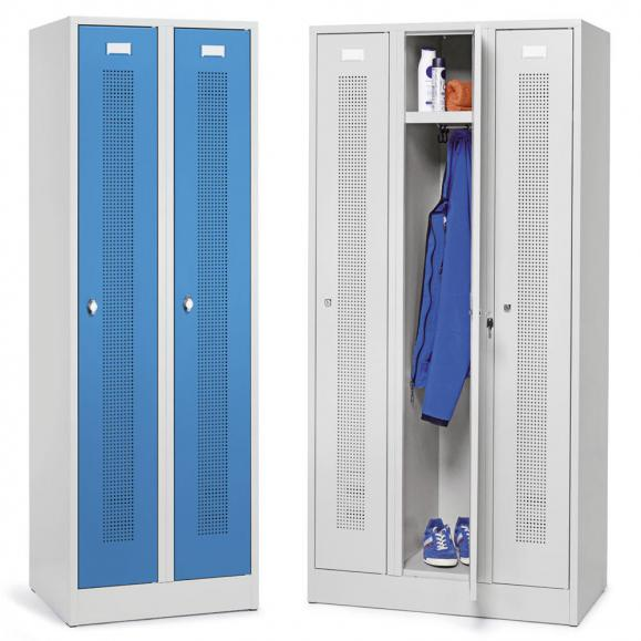 Garderoben-Stahlspinde mit Sockel