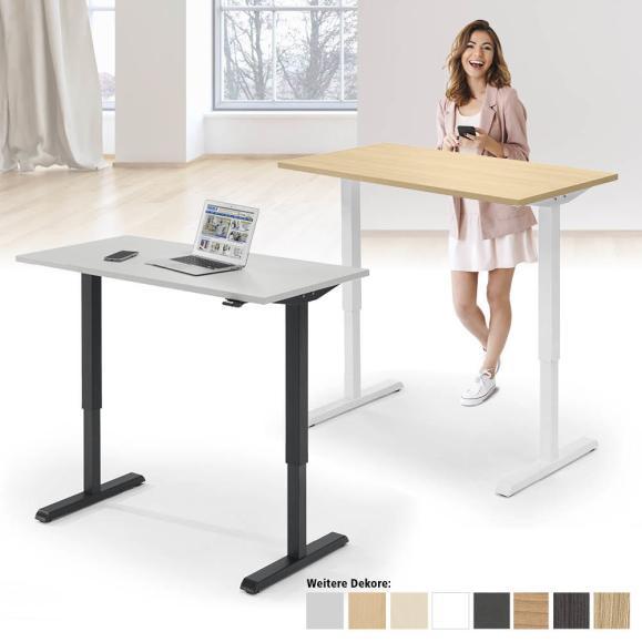 Sitz-/Stehschreibtisch HOME OFFICE - Tiefe 650 mm