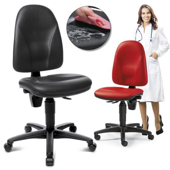 Bürodrehstuhl SOFTEX MAGIC II ohne Armlehnen, abwaschbar