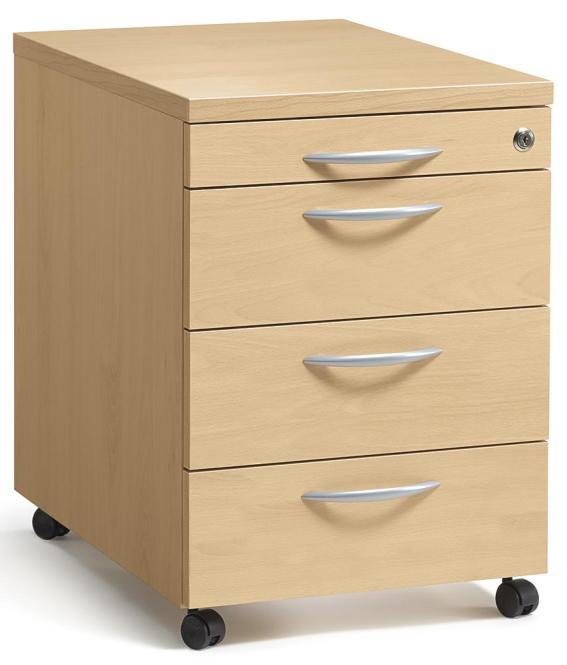 rollcontainer multi m buchedekor 800 mm mit schubladen b rom bel und betriebseinrichtung. Black Bedroom Furniture Sets. Home Design Ideas