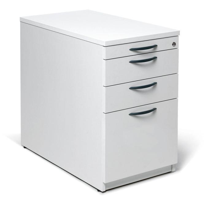 Standcontainer MULTI M Weiß | 1 + 2 Schübe + Hängeregistratur