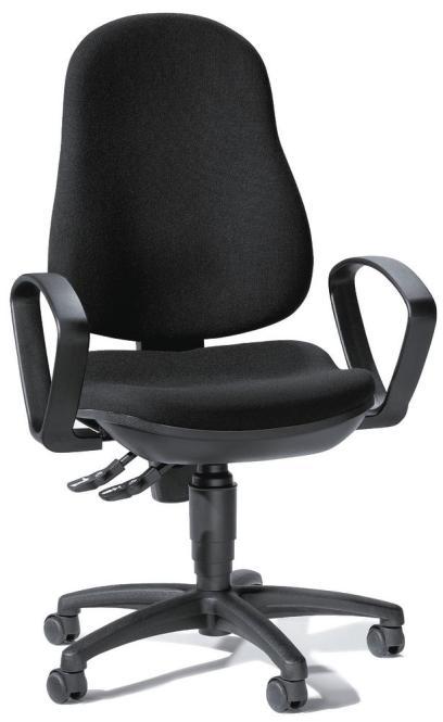 Bürodrehstuhl BASE ART 60 inkl. Armlehnen Schwarz   feste Armlehnen