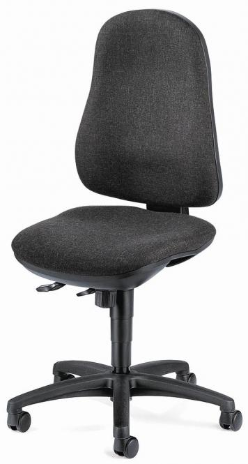 Bürodrehstuhl COMFORT I ohne Armlehnen Anthrazit   Polyamid schwarz   ohne Armlehnen (optional)