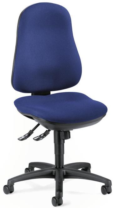 Bürodrehstuhl COMFORT I ohne Armlehnen Blau   Polyamid schwarz   ohne Armlehnen (optional)