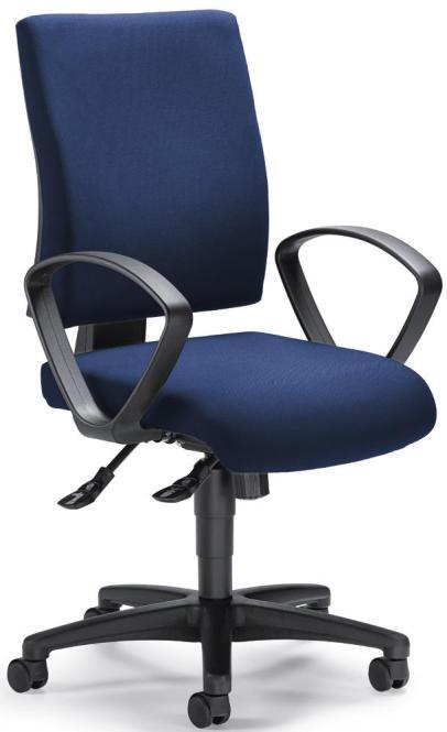 Bürodrehstuhl COMFORT R inkl. Armlehnen Dunkelblau