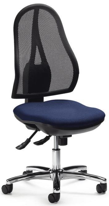 Bürodehstuhl COMFORT NET DELUXE ohne Armlehnen Dunkelblau