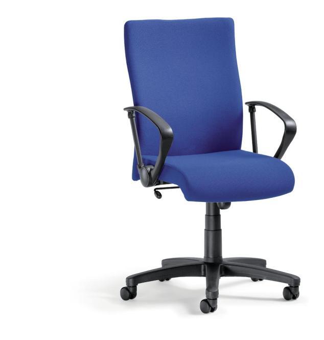 Bürodrehstuhl DV 10 inkl. Armlehnen Blau | Nein