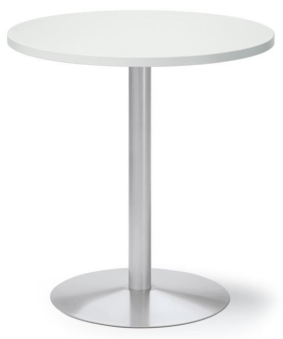 Besuchertisch MULTI M Weiß | Alusilber RAL 9006 | 700 mm