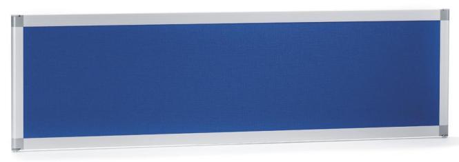 Tischtrennwand MIAMI PLUS, schallabsorbierend Blau | 1200 mm