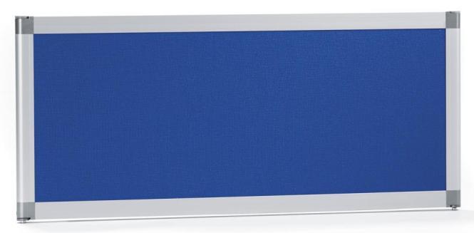 Bureauscheidingswand MIAMI PLUS,geluidsabsorberend blauw   800 mm