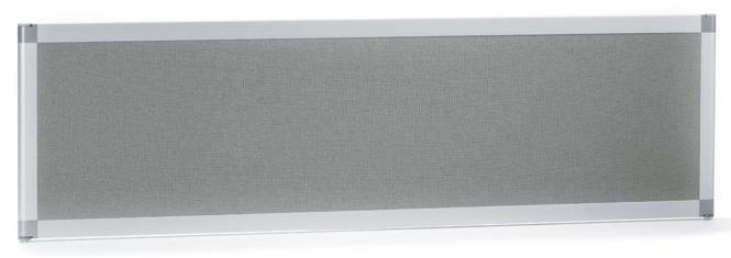 Tischtrennwand MIAMI PLUS, schallabsorbierend Grau | 1600 mm