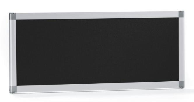 Tischtrennwand /Tischstellwand MIAMI schallabs. 800 mm | Stoff schwarz, schallabsorbierend