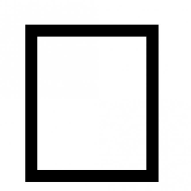 Bodenschutzmatte aus transparentem PET für Hartböden, ohne Noppen | Form E - 1200 x 1800 mm