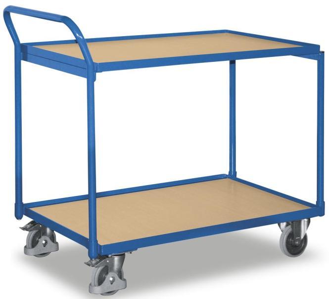 Tischwagen mit erhöhtem Ergo-Schiebegriff