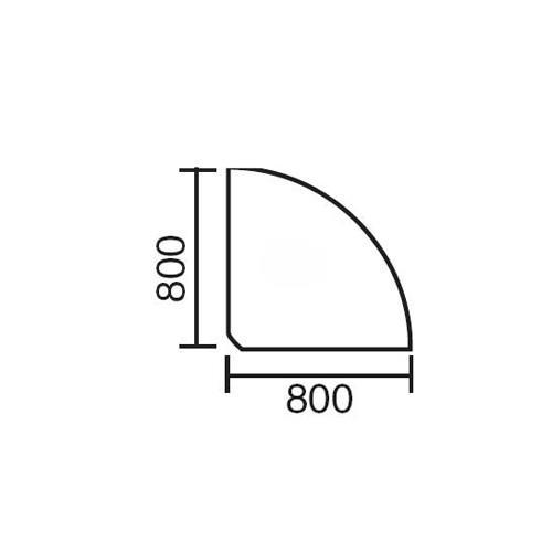 Verkettungsplatte MULTI M Weiß | Anthrazit RAL 7021