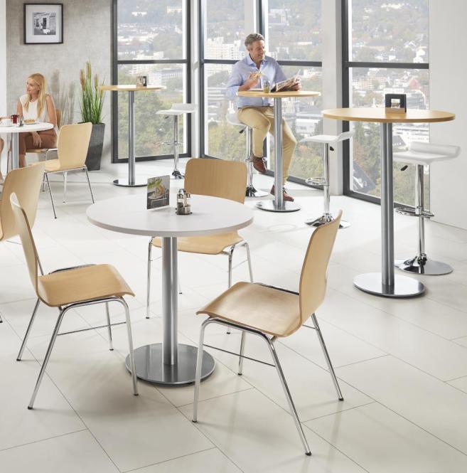 Cafeteria Tischsystem rund