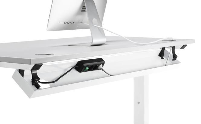 Kabelwanne 1600 PROFI Weiß RAL 9016 | für Tischbreite 1600 mm