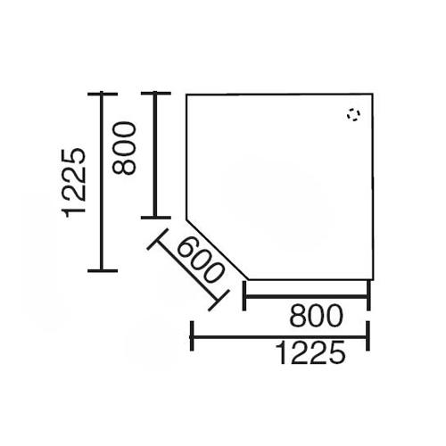Verkettungsplatte MULTI M Buchedekor | Alusilber RAL 9006