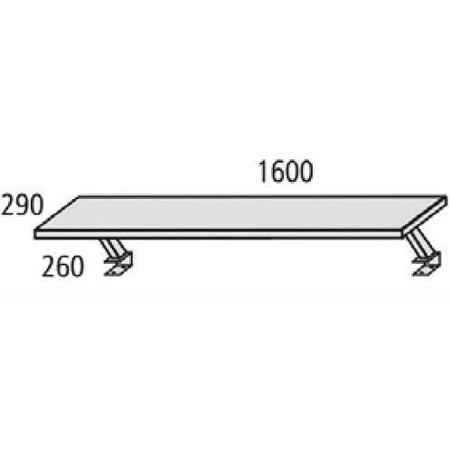Thekenaufsatz MULTI M Buchedekor | 1600 mm | Zweite Ebene f. Schreibtisch