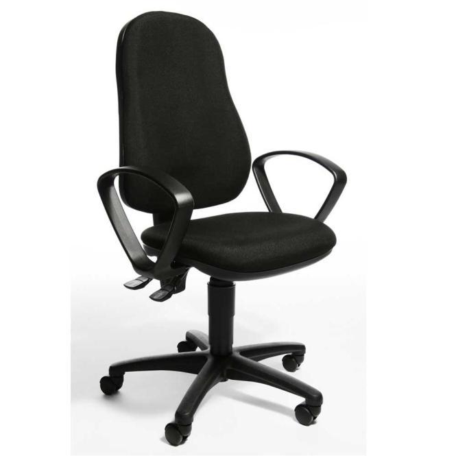Bürodrehstuhl BASE ART 60 inkl. Armlehnen Schwarz | feste Armlehnen