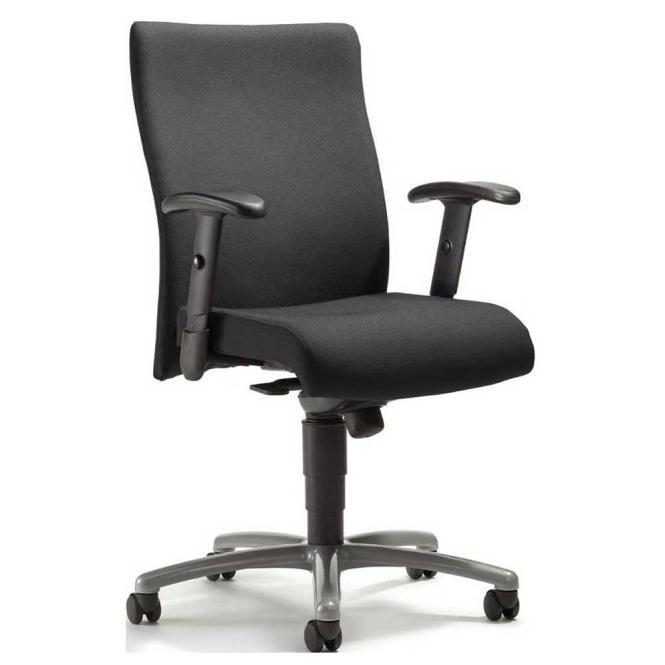 Bürodrehstuhl DV 30 inkl. Armlehnen Schwarz | Verchromt | Nein | verstellbare Armlehnen