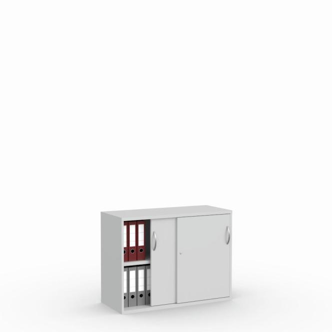 Schuifdeurkast MULTI M pro lichtgrijs | 1000 mm | 780 mm (2 OH)