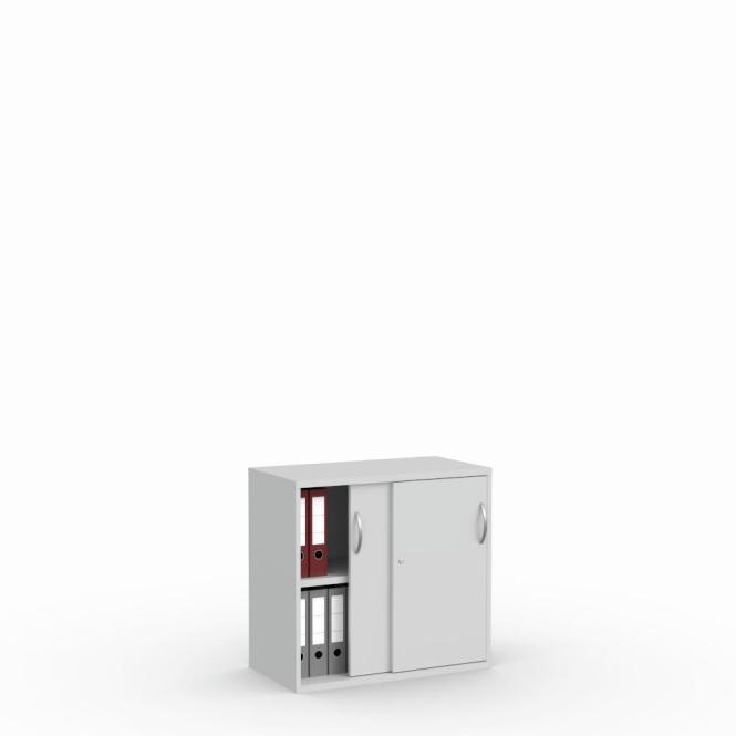 Schiebetürenschrank Multi M pro Lichtgrau | 800 mm | 780 mm (2 OH)