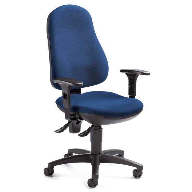 Bürodrehstuhl BASE ART 70 inkl. Armlehnen Blau | verstellbare Armlehnen