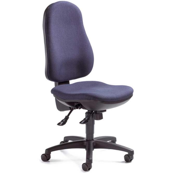 Bürodrehstuhl COMFORT I ohne Armlehnen Dunkelblau | Polyamid schwarz