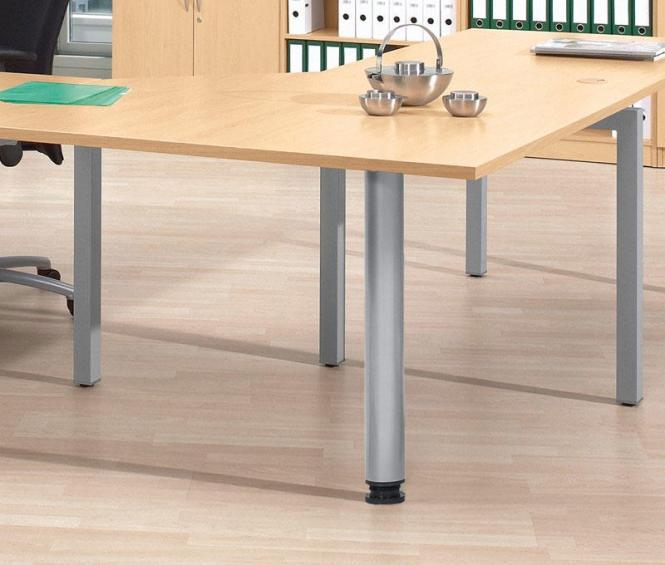 Verkettungs- und Anbauplatten für Comfort-Tische BASE L