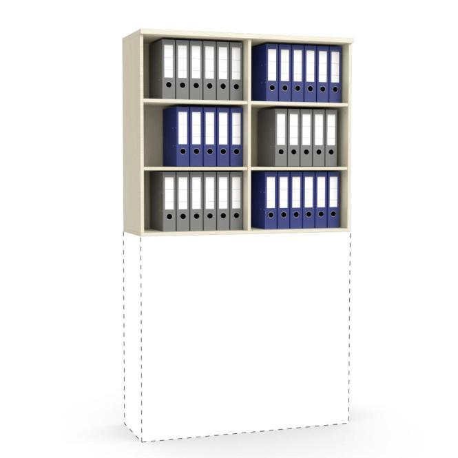 Aufsatz-Regal MULTI M Ahorndekor | 1200 mm | 1055 mm (3 OH)