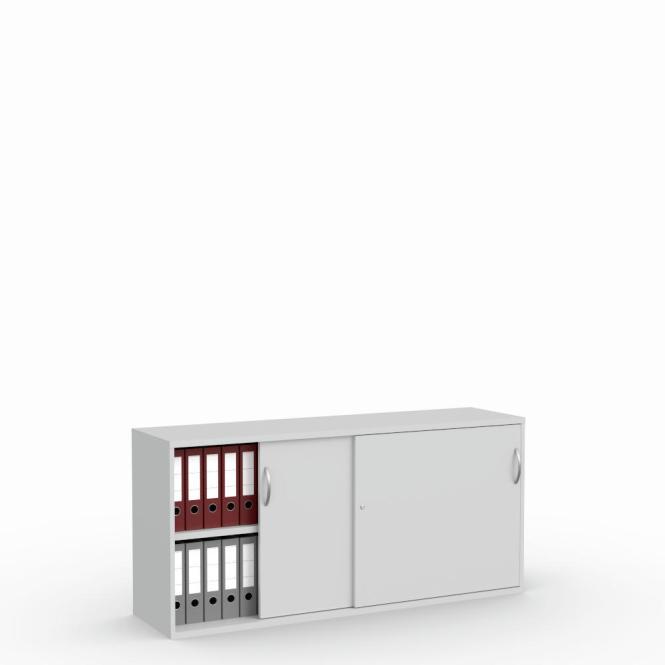 Schiebetürenschrank Multi M pro Lichtgrau | 1600 mm | 780 mm (2 OH)